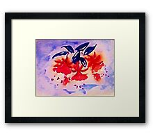 Fushia, the Dancing ballernia Framed Print