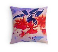 Fushia, the Dancing ballernia Throw Pillow