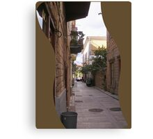 traditional Greek alley Canvas Print