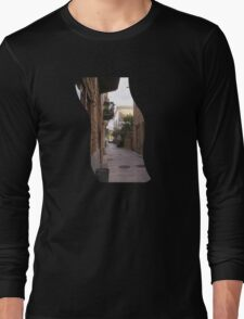 traditional Greek alley Long Sleeve T-Shirt