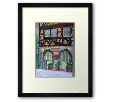 Restaurant Noel et Joie Framed Print