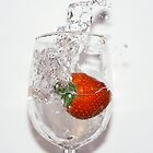 strawberry splash by Tina Boissy-Parker