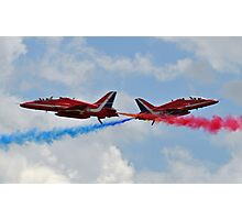 RAF Red Arrows Cross Photographic Print
