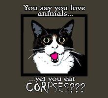 Vegan Vegetarian Kitty Shock Unisex T-Shirt