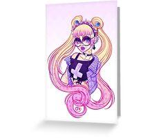 Pastel Goth Usagi (Glasses ON) Greeting Card