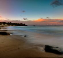 Pebbly Beach Sunset. by Warren  Patten