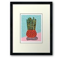 Amped - throwback vintage retro art print memphis style period hipster colorful bright pop art funny Framed Print