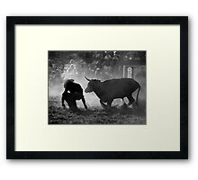 0102 Caught Unawares Framed Print