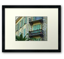 Shutters And Balconies Framed Print