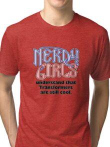 Nerdy Girls 003 - Transformers Tri-blend T-Shirt