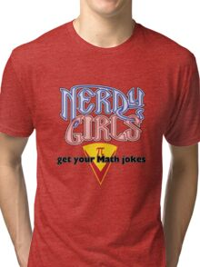 Nerdy Girls 008 - Math Jokes Tri-blend T-Shirt