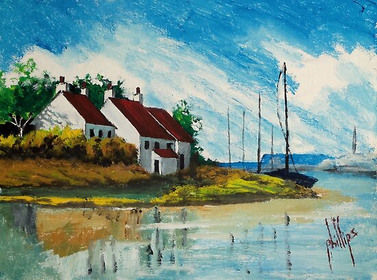 Living at the Mouth of the White Oak River by Jim Phillips