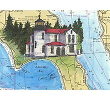 Admiralty Head Lighthouse WA Chart Cathy Peek Photographic Print