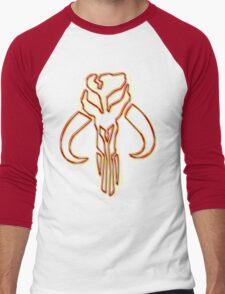 Bounty Hunter Emblem (Acid Scheme) Men's Baseball ¾ T-Shirt