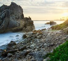 Corona Del Mar Sunset Pseudo by jswolfphoto