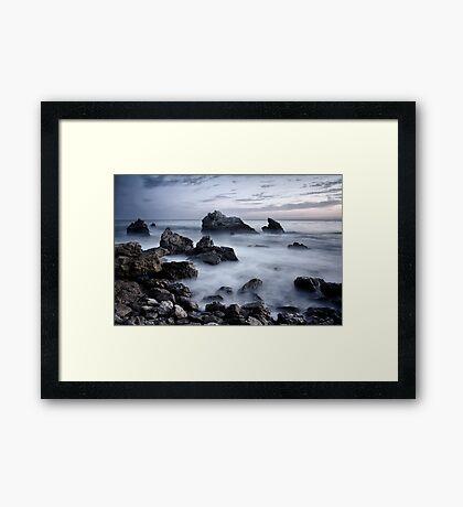Rock Beach Dark Framed Print