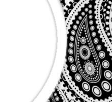 Paisley Yin Yang Moon Sticker