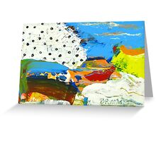 Boat on shores Greeting Card