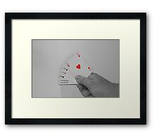 Play your Ace Framed Print