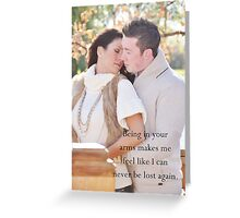 Lost In Your Arms Greeting Card