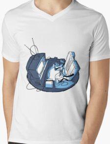 Playin' Ya'self - Blue Mens V-Neck T-Shirt