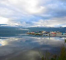 The Sky has Fallen on Shuswap Marina by HomeTimeArt
