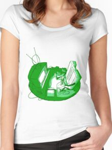 Playin' Ya'self - Green Women's Fitted Scoop T-Shirt