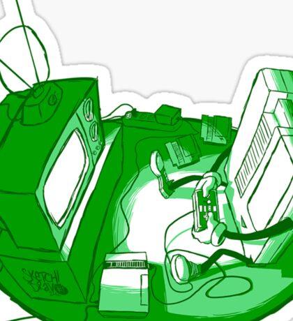 Playin' Ya'self - Green Sticker