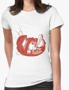Playin' Ya'self - Red Womens Fitted T-Shirt