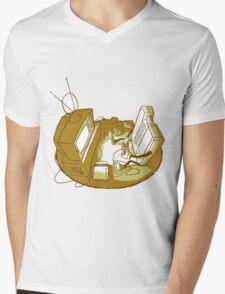 Playin' Ya'self - Yellr.Brownish Mens V-Neck T-Shirt