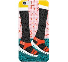 Kicks - throwback retro vintage 1980 1980's 80s 80's memphis bright neon colorful urban chic hipster iPhone Case/Skin