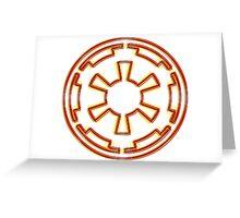Galactic Empire Emblem (Acid Scheme) Greeting Card