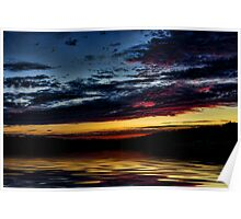 Lake Sunset Poster
