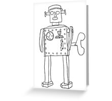 robot vintage toy cute art Greeting Card