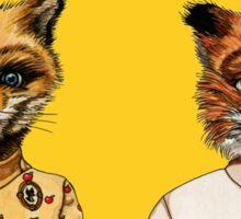 Mr. and Mrs. Fox Sticker