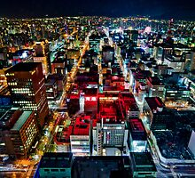 A Peaceful City - Sapporo , Japan ( with Billboard )  by sxhuang818