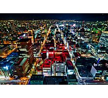 A Peaceful City - Sapporo , Japan ( with Billboard )  Photographic Print