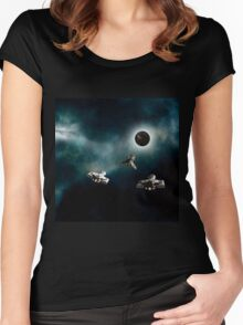 Dark Planet Women's Fitted Scoop T-Shirt