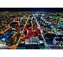 A Peaceful City - Sapporo , Japan ( Without Billboard )  Photographic Print