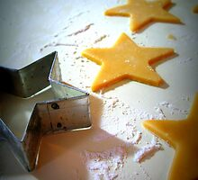 Christmas Cookie Cutter Stars  by Pamela Burger