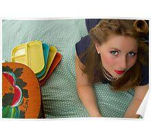 50s Retro Girl Poster
