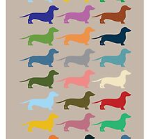 Dachshunds by opul