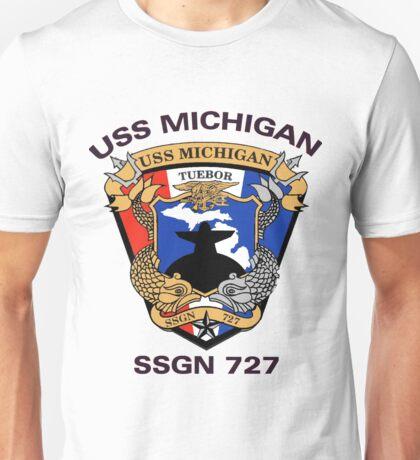 USS Michigan (SSGN-727) Crest Unisex T-Shirt