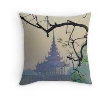 Tenderly,  the dawn of Mandalay Throw Pillow