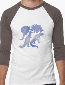dino blue  Men's Baseball ¾ T-Shirt