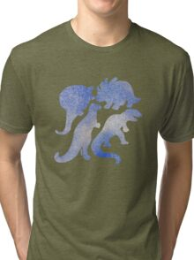 dino blue  Tri-blend T-Shirt
