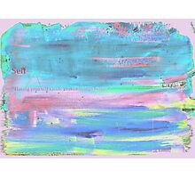 Paint faded text pink Photographic Print