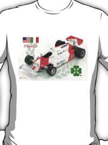 Mario Andretti and the Alfa Romeo 179c F1 Car 1981 T-Shirt