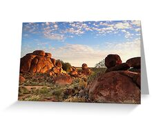 Devils Marbles Sunset Greeting Card