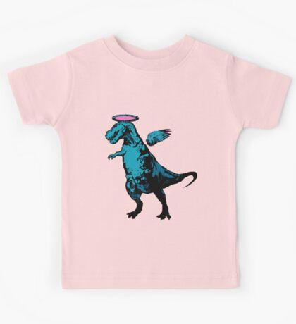 Angel Rex (pink and blue) Kids Tee